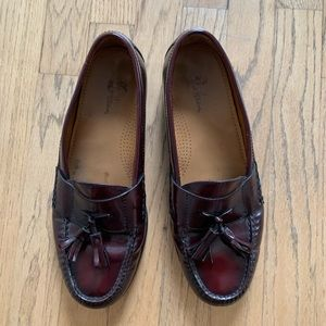 Cole Haan Oxblood Red Tassel Loafers